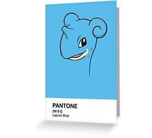 Lapras Pantone Greeting Card