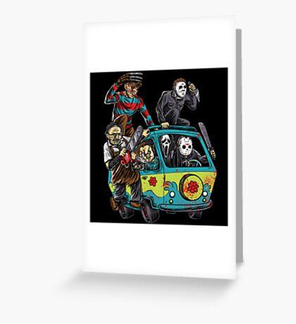 The Massacre Machine Horror Greeting Card