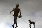 surreal walk with a dog by Marianna Tankelevich