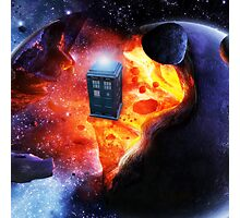 Space Tardis Photographic Print