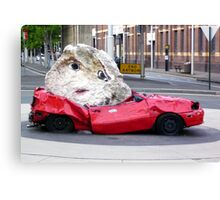 Still Life With Stone And Car Canvas Print