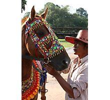 Siem Reap Horseman Photographic Print