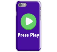 Press Play Button iPhone Case/Skin