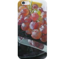 Grapes, Cheese, and knife still life iPhone Case/Skin
