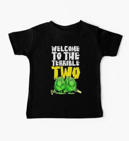 Graphic Terrible Two (dark) Baby Tee