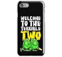 Graphic Terrible Two (dark) iPhone Case/Skin