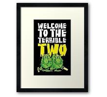 Graphic Terrible Two (dark) Framed Print