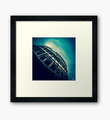 Under the Arena Framed Print