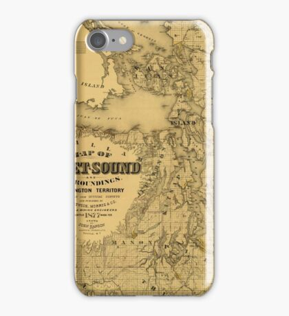 Map of Puget Sound 1877 iPhone Case/Skin