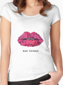 Bad Things Art 4 (BLACK/WHITE) Women's Fitted Scoop T-Shirt