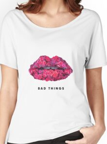 Bad Things Art 4 (BLACK/WHITE) Women's Relaxed Fit T-Shirt