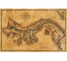 Map of Panama 1864 Photographic Print