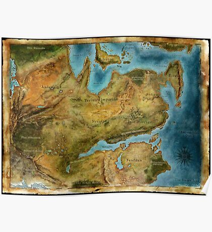 Dragon Age Thedas Map Poster