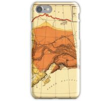 Map of Alaska 1898 iPhone Case/Skin