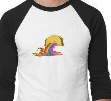 Taco puking a rainbow Men's Baseball ¾ T-Shirt