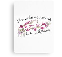 She belongs among the wildflowers Canvas Print