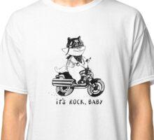 Cat biker in a cartoon style. Classic T-Shirt