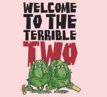 Graphic Terrible Two (white) Kids Tee