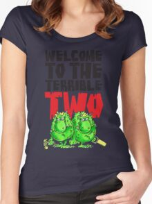 Graphic Terrible Two (white) Women's Fitted Scoop T-Shirt