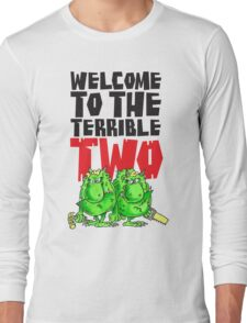 Graphic Terrible Two (white) Long Sleeve T-Shirt