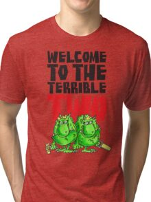 Graphic Terrible Two (white) Tri-blend T-Shirt