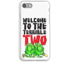 Graphic Terrible Two (white) iPhone Case/Skin