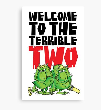 Graphic Terrible Two (white) Canvas Print