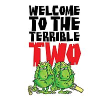 Graphic Terrible Two (white) Photographic Print