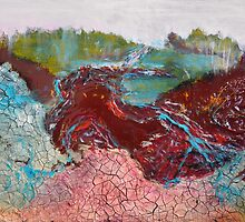 River of Blood Abstract Painting by Jane Ianniello