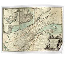 Map of Quebec 1776 Poster