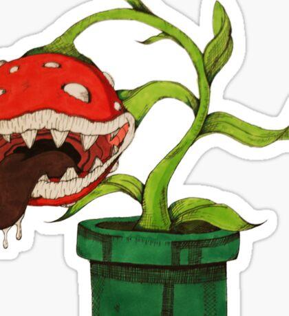 Piranha Plant Mario Sticker Sticker