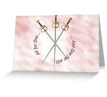 Musketeer Mantra Greeting Card