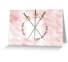 Musketeer Mantra Greeting Card