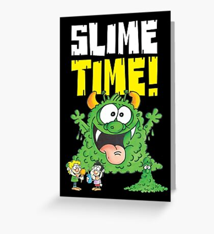 Graphic Slimey Joe (dark) Greeting Card