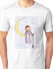 Kewpie Doll on Moon Unisex T-Shirt