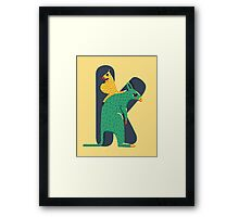 K for Kangoroo Framed Print
