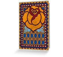 Spanish Rose (blue) Greeting Card