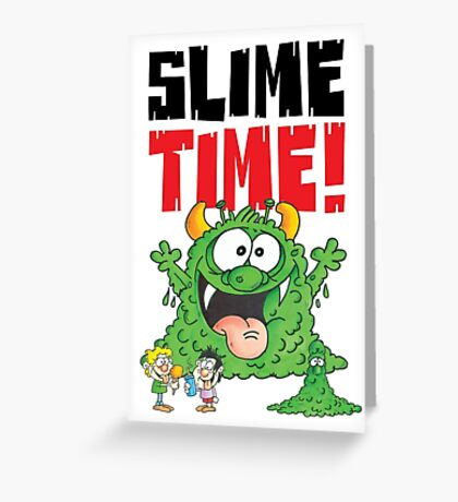Graphic Slimey Joe Greeting Card