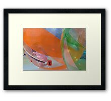 Trapped in Orb Ball Framed Print