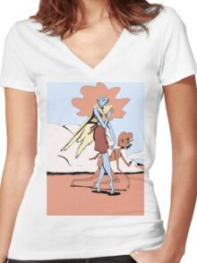 In the Desert Women's Fitted V-Neck T-Shirt