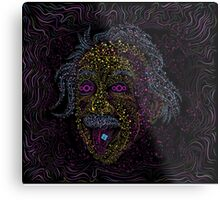 Acid Scientist tongue out psychedelic art poster Metal Print