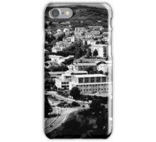 Black and White Italian City Landscape Scene iPhone Case/Skin