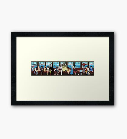 Studio Ghibli Train Framed Print