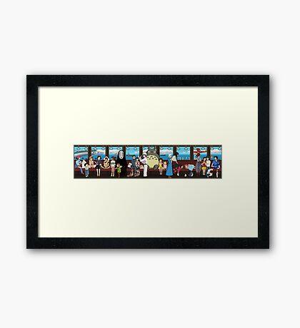 Studio Ghibli Train Framed Print