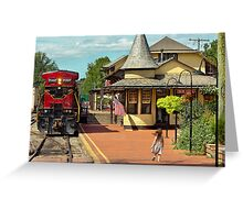 Train Station - There will always be hope Greeting Card