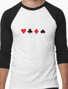Four Suits Men's Baseball ¾ T-Shirt