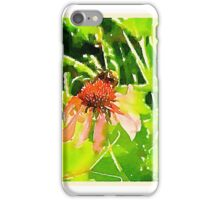 Purple Coneflower & Bee iPhone Case/Skin