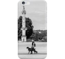 dog walk in the park iPhone Case/Skin