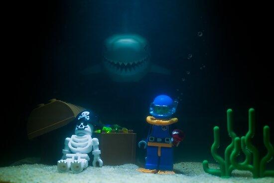 Sunken Lego treasure by Kevin  Poulton - aka 'Sad Old Biker'
