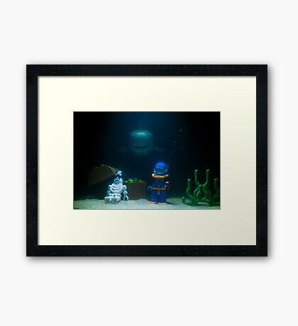 Sunken Lego treasure Framed Print
